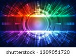abstract futuristic digital... | Shutterstock .eps vector #1309051720