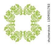 green nature frame. vector...   Shutterstock .eps vector #1309051783