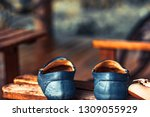 blue moccasins on the chair | Shutterstock . vector #1309055929