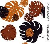 dark orange vector seamless...   Shutterstock .eps vector #1309066540