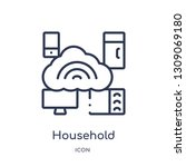 household icon from smart home... | Shutterstock .eps vector #1309069180