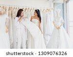 women who are choosing a... | Shutterstock . vector #1309076326