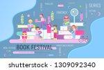 modern flat design concept for... | Shutterstock .eps vector #1309092340