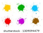 set different colorful splash ... | Shutterstock .eps vector #1309094479