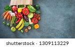 healthy food selection.... | Shutterstock . vector #1309113229