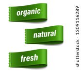 organic labels set with... | Shutterstock .eps vector #1309116289