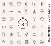 compass icon. measuring...