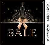 sale discounts concept with... | Shutterstock .eps vector #1309125286