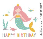 birthday vector greeting card... | Shutterstock .eps vector #1309125349