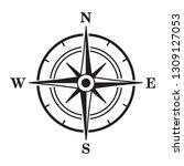 compass icon. vector...   Shutterstock .eps vector #1309127053