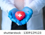 blood donation for people... | Shutterstock . vector #1309129123