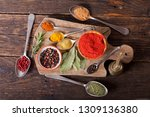 various herbs and spices for... | Shutterstock . vector #1309136380