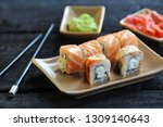 japanese cuisine sushi with... | Shutterstock . vector #1309140643