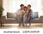 happy family and kid daughter... | Shutterstock . vector #1309144939