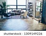 millennial hipster guy reading... | Shutterstock . vector #1309149226