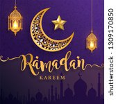 ramadan kareem or eid mubarak... | Shutterstock .eps vector #1309170850