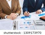 business colleague team working ... | Shutterstock . vector #1309173970