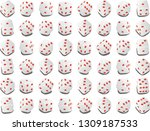 a variety of dice in the casino ... | Shutterstock .eps vector #1309187533