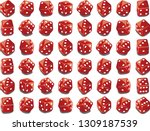 a variety of dice in the casino ... | Shutterstock .eps vector #1309187539