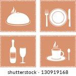 set napkin with restaurant... | Shutterstock . vector #130919168