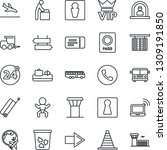 thin line icon set   airport... | Shutterstock .eps vector #1309191850