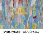highly textured colorful...   Shutterstock . vector #1309195369