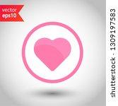valentines heart vector icon