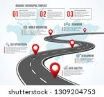 business road map. strategy... | Shutterstock .eps vector #1309204753