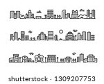 city outline landscape.... | Shutterstock .eps vector #1309207753