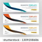 abstract web banner design... | Shutterstock .eps vector #1309208686