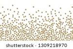 a lot of small golden balls... | Shutterstock .eps vector #1309218970
