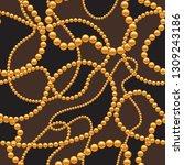 seamless pattern with golden...   Shutterstock .eps vector #1309243186