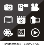 video icons over black... | Shutterstock .eps vector #130924733