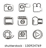 video icons over white... | Shutterstock .eps vector #130924769