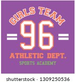 girls team slogan typography... | Shutterstock .eps vector #1309250536