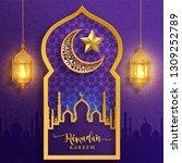 ramadan kareem or eid mubarak... | Shutterstock .eps vector #1309252789