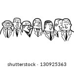 group of businessmen   retro... | Shutterstock .eps vector #130925363