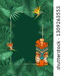 summer tropical background... | Shutterstock .eps vector #1309263553