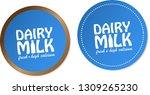 dairy milk stickers | Shutterstock .eps vector #1309265230