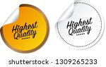 highest quality stickers | Shutterstock .eps vector #1309265233