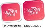 super sale stickers | Shutterstock .eps vector #1309265239
