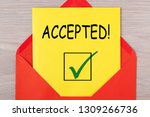 accepted word message on letter ...   Shutterstock . vector #1309266736