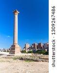 pompeys pillar located in... | Shutterstock . vector #1309267486