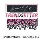 cool design for print on tee... | Shutterstock .eps vector #1309267519