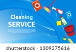 cleaning service blue ... | Shutterstock .eps vector #1309275616