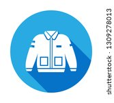 bomber jacket clothing icon...