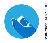 heeled mules  sandals icon with ...