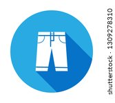 jeans shorts icon with long...
