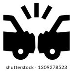 car crash vector icon | Shutterstock .eps vector #1309278523