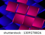 illustration pink and blue... | Shutterstock . vector #1309278826